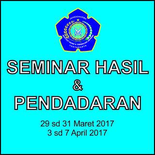 Pengumuman Seminar Hasil dan Pendadaran Jurusan Teknik Elektro IST AKPRIND Yogyakarta