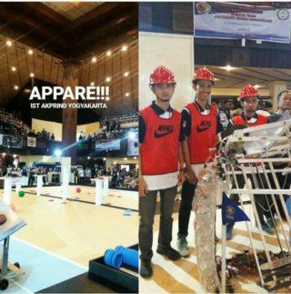 Tim Brahmana IST AKPRIND Yogyakarta Raih The Best Strategy pada Ajang Kontes Robot Indonesia Regional 3 2017