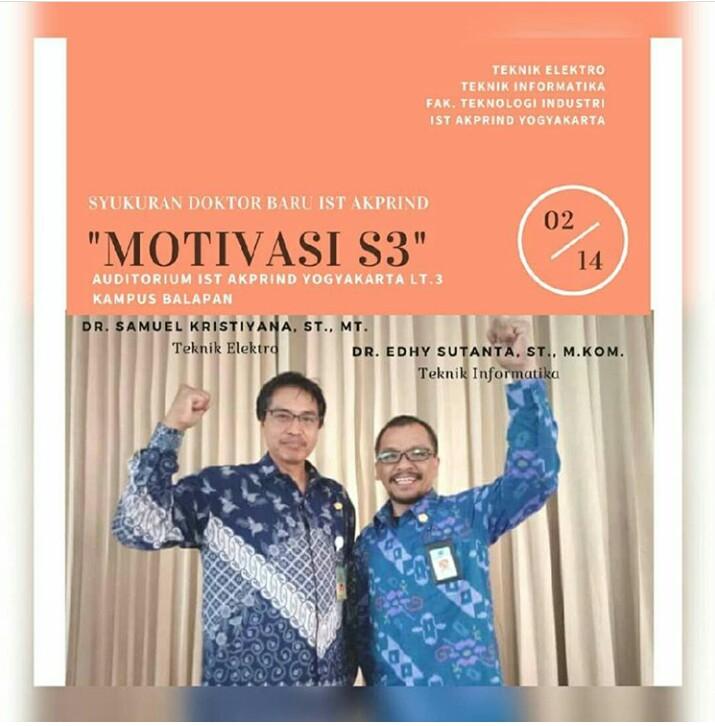 Acara Motivasi Doktor Baru IST AKPRIND Yogyakarta