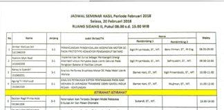 SEMINAR HASIL/ PRA PENDADARAN FEBRUARI 2018