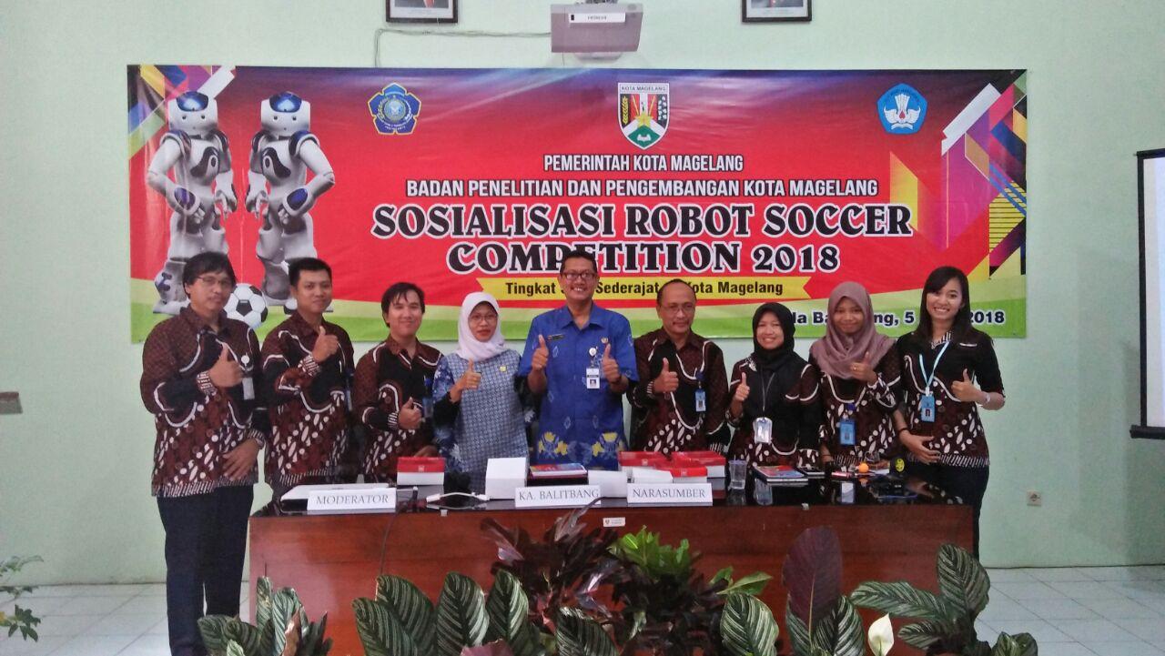 Sosialisasi Robot Soccer Competition 2018 untuk siswa SMP se-kota Magelang
