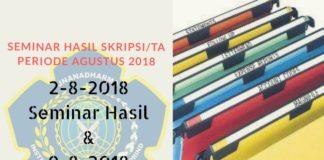 JADWAL SEMINAR PERIODE AGUSTUS 2018