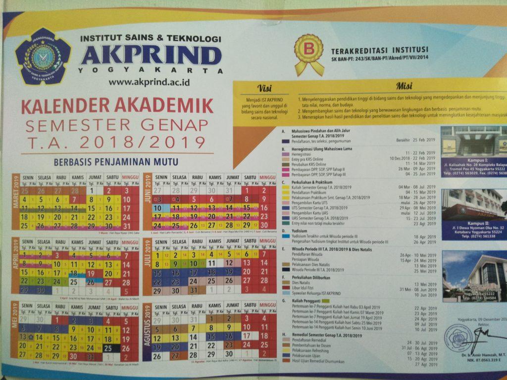 kalender akademik Teknik Elektro IST AKPRIND