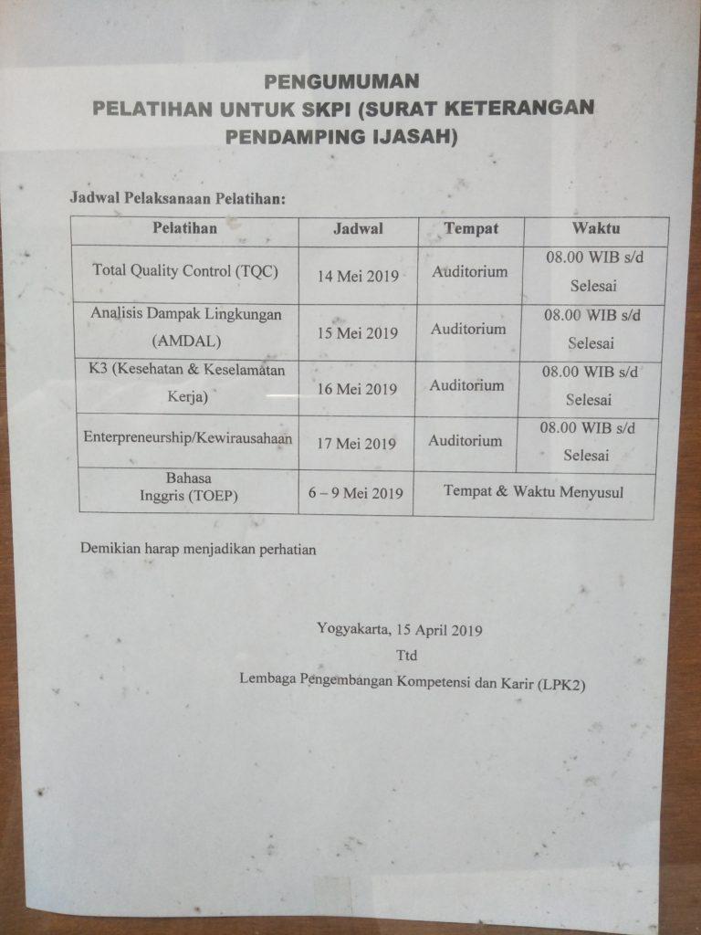 SKPI Teknik Elektro IST AKPRIND Periode Mei 2019