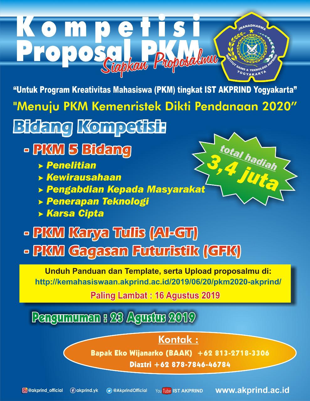 Ikuti Kompetisi Proposal PKM IST AKPRIND, Menangkan Hadiahnya