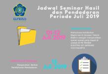 Jadwal Seminar Hasil dan Pendadaran Periode Juli 2019